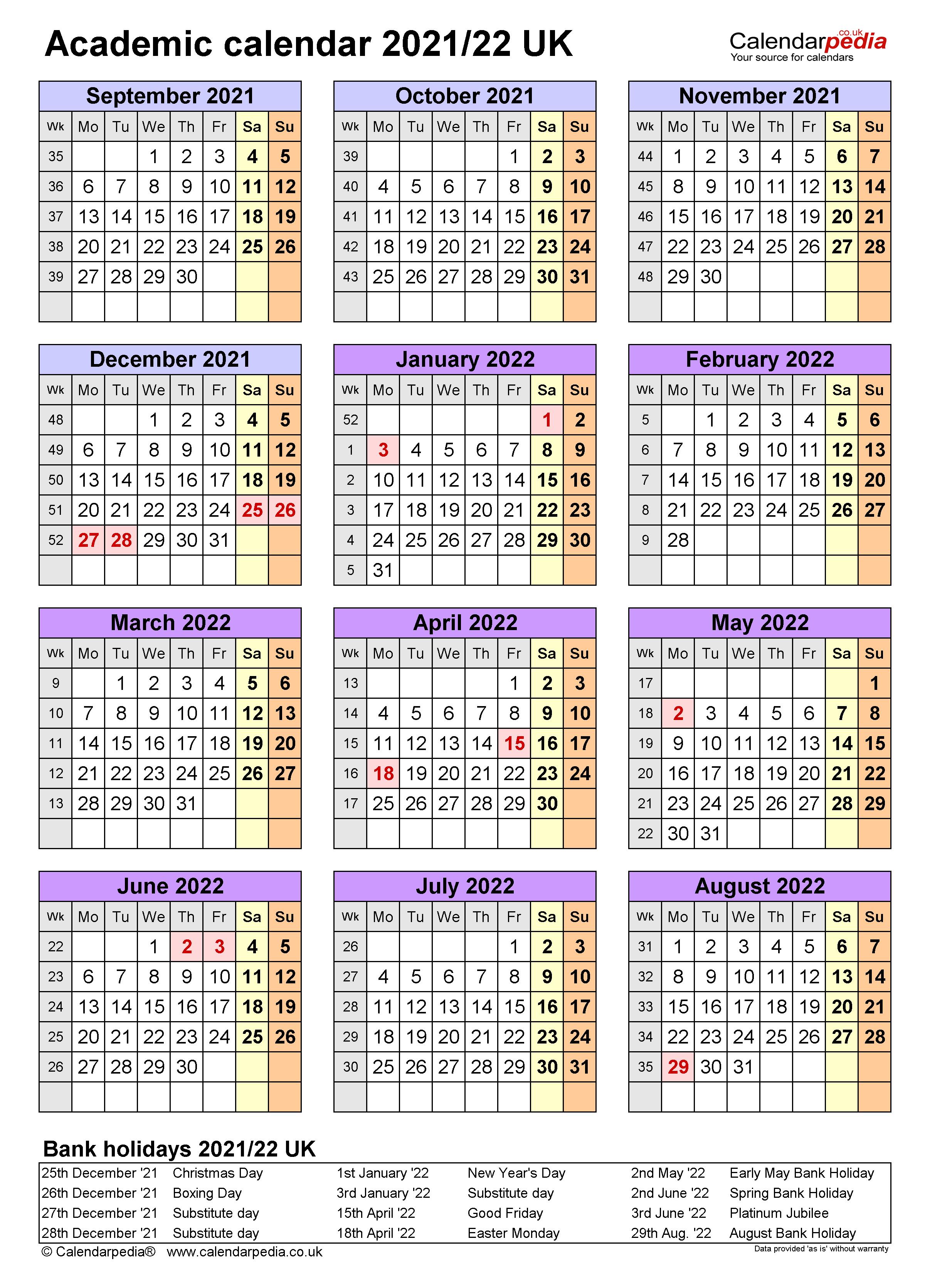 Queens College Academic Calendar Spring 2022.Academic Calendars 2021 22 Uk Free Printable Excel Templates