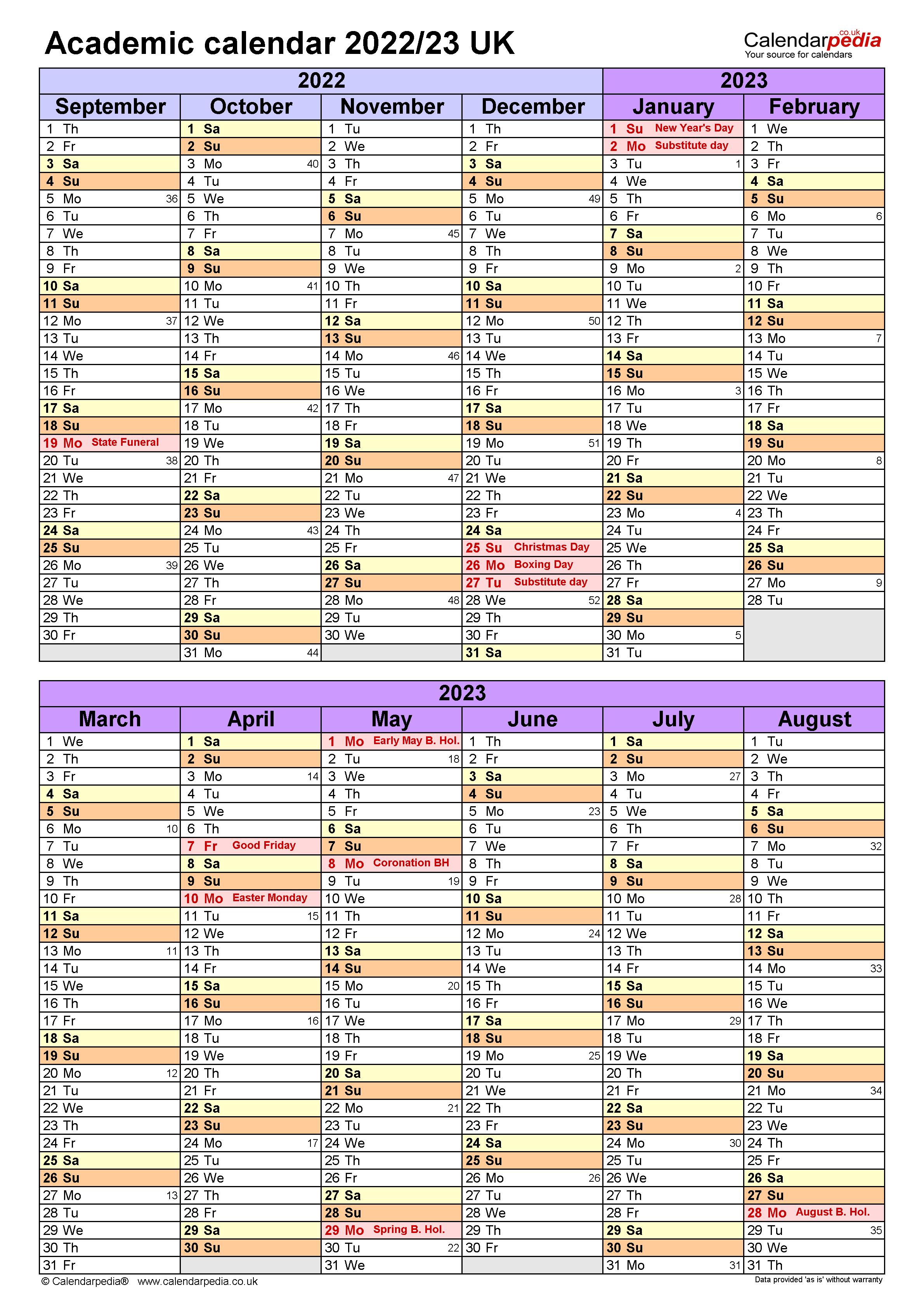 Bgsu Academic Calendar 2022 23.Academic Calendars 2022 23 Uk Free Printable Pdf Templates