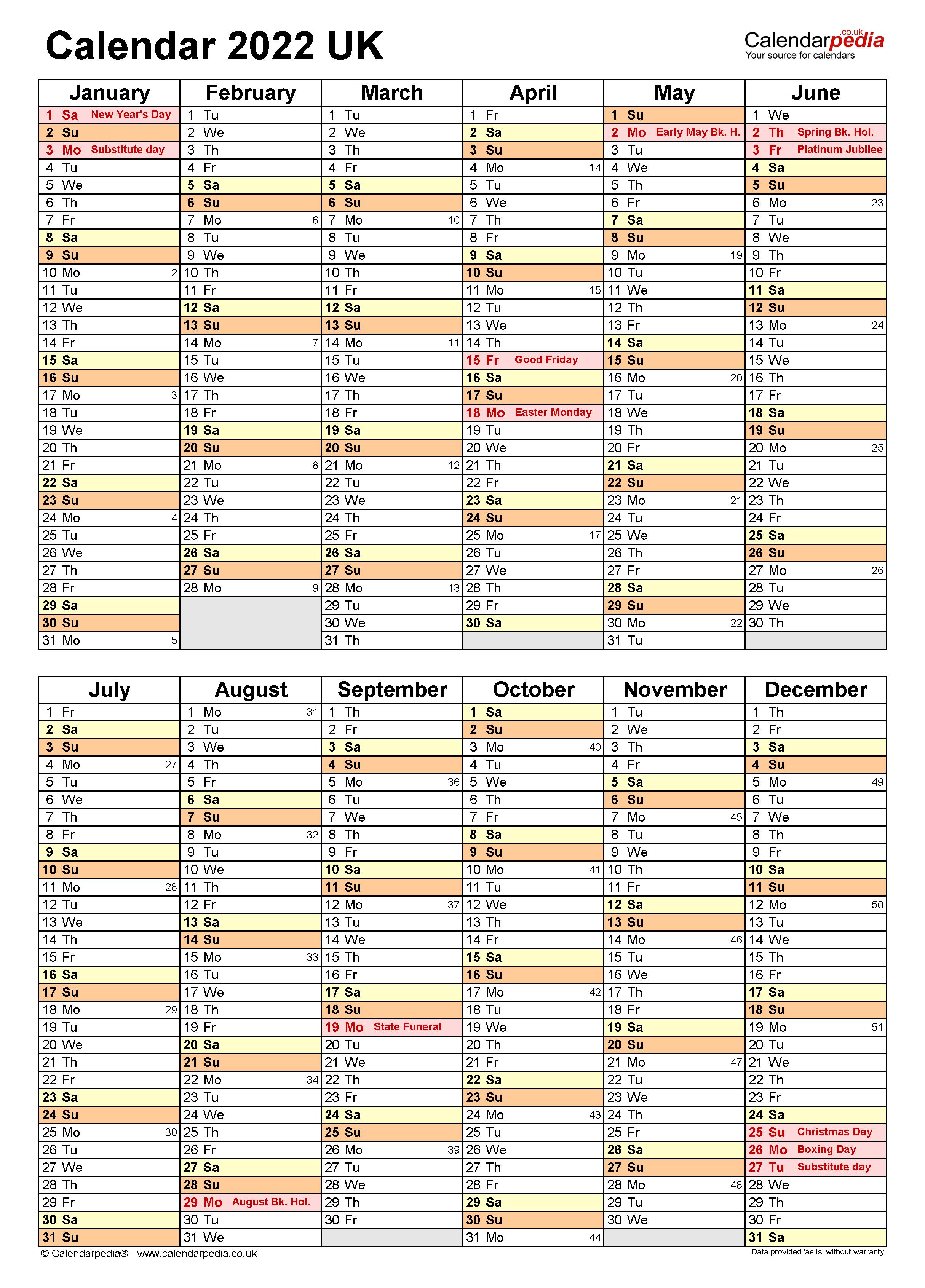 Appointment Calendar 2022.Calendar 2022 Uk Free Printable Microsoft Excel Templates