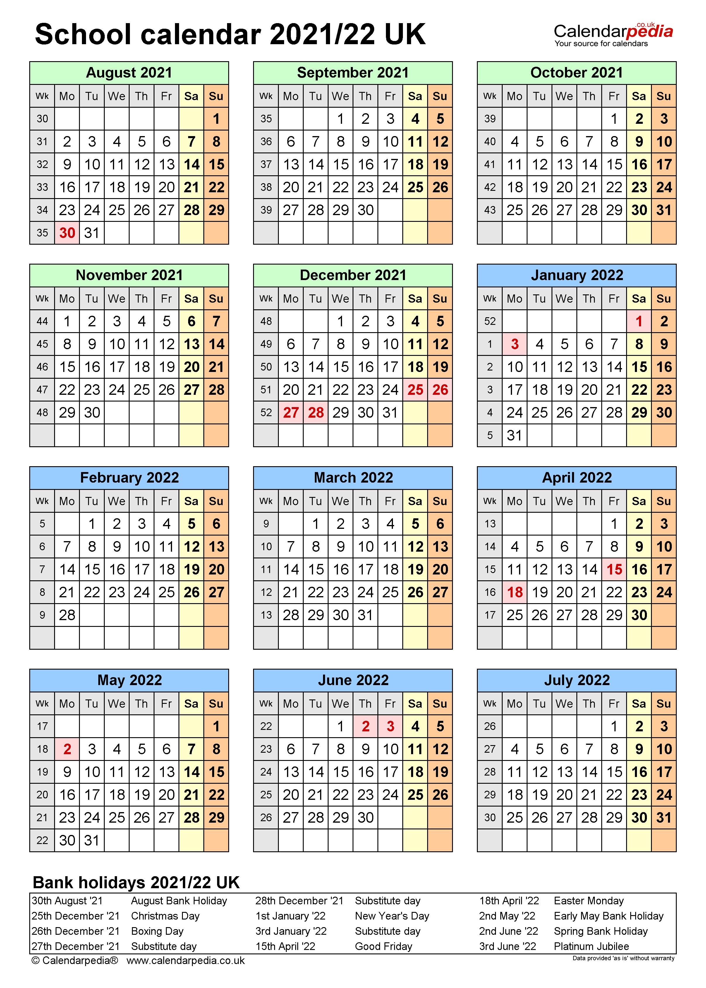 Queens College Spring 2022 Calendar.School Calendars 2021 22 Uk Free Printable Excel Templates