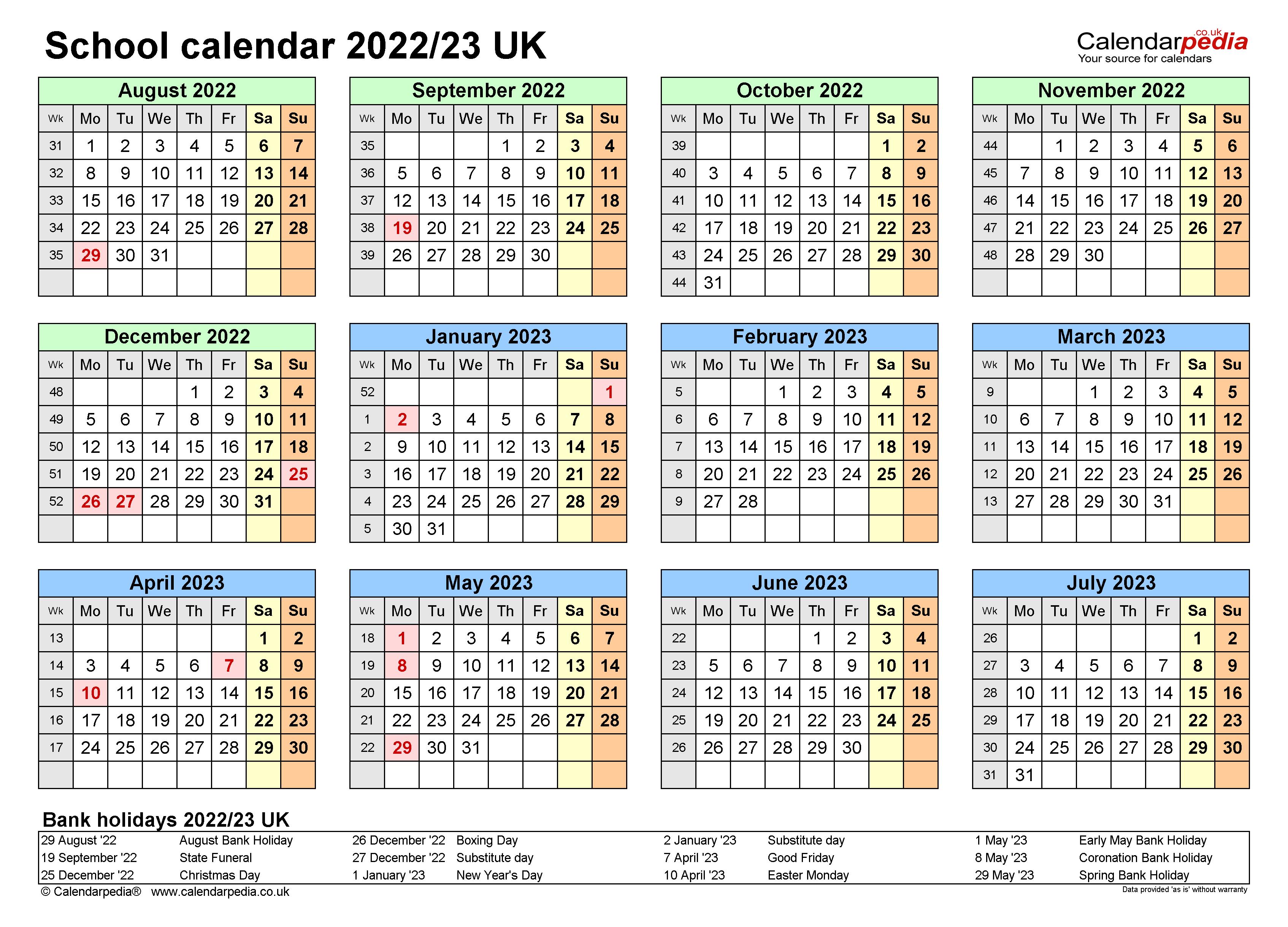 Rit Academic Calendar 2022 2023.School Calendars 2022 23 Uk Free Printable Excel Templates