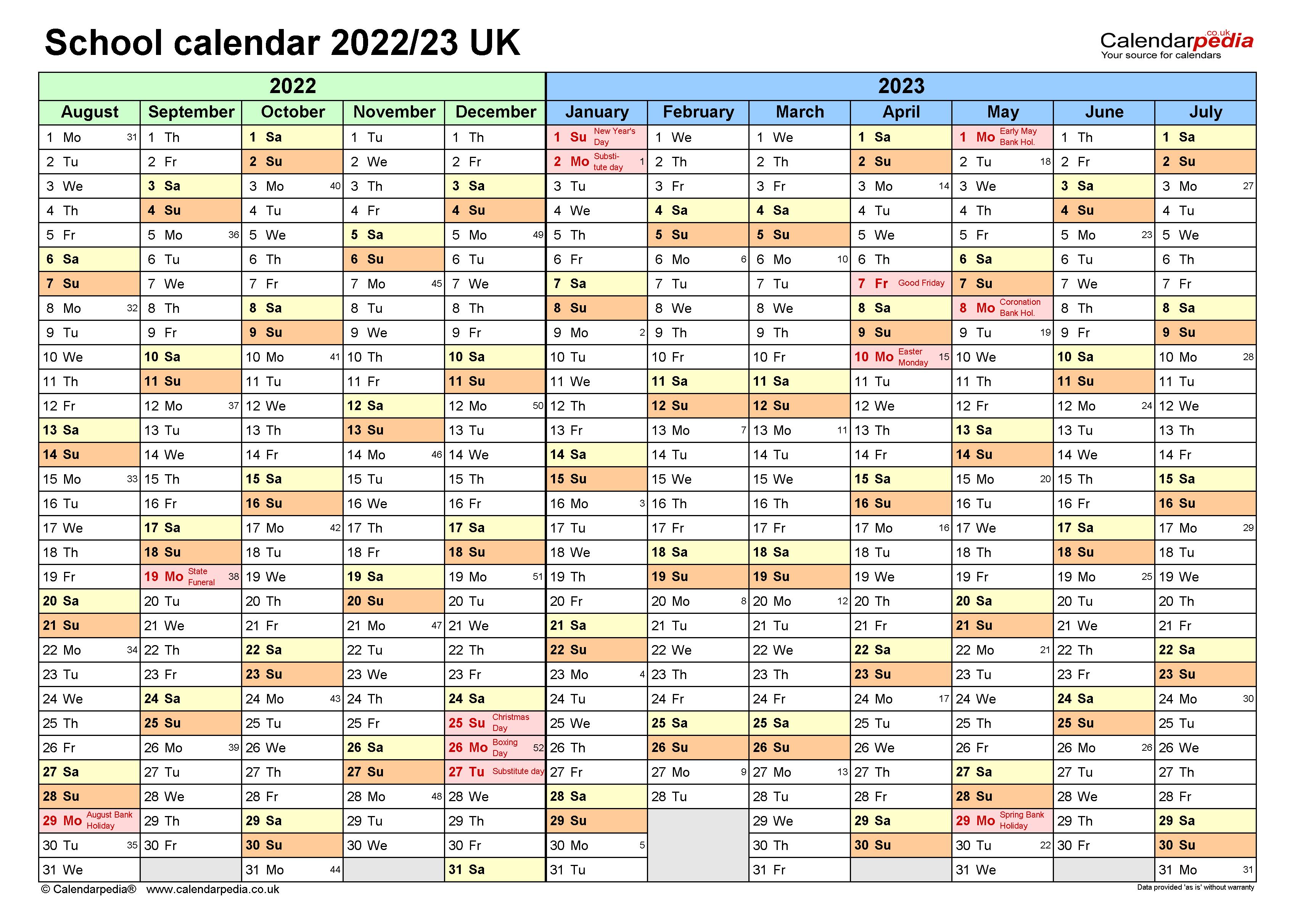 Umn Academic Calendar 2022 23.School Calendars 2022 23 Uk Free Printable Excel Templates