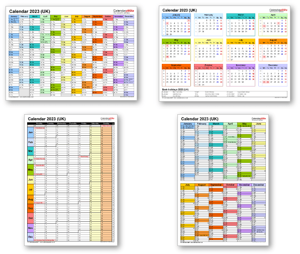 Calendar templates 2023 for Excel, PDF & Word