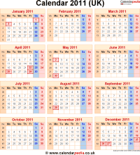 Download calendar 2011 as PNG file