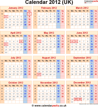 Download calendar 2012 (UK edition) as PNG file