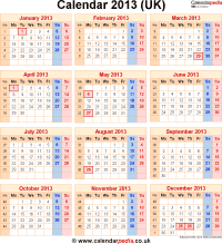 Download calendar 2013 (UK edition) as PNG file