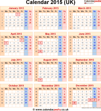 Download calendar 2015 (UK edition) as PNG file