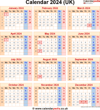 Download calendar 2024 (UK edition) as PNG file