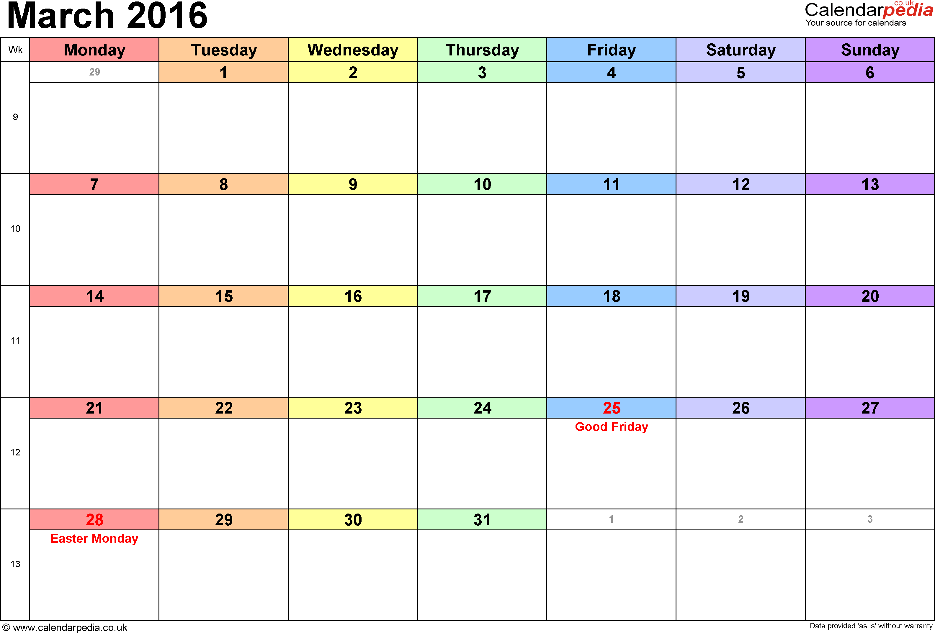calendar uk bank holidays excel pdf word templates calendar 2016 in landscape format 3 templates
