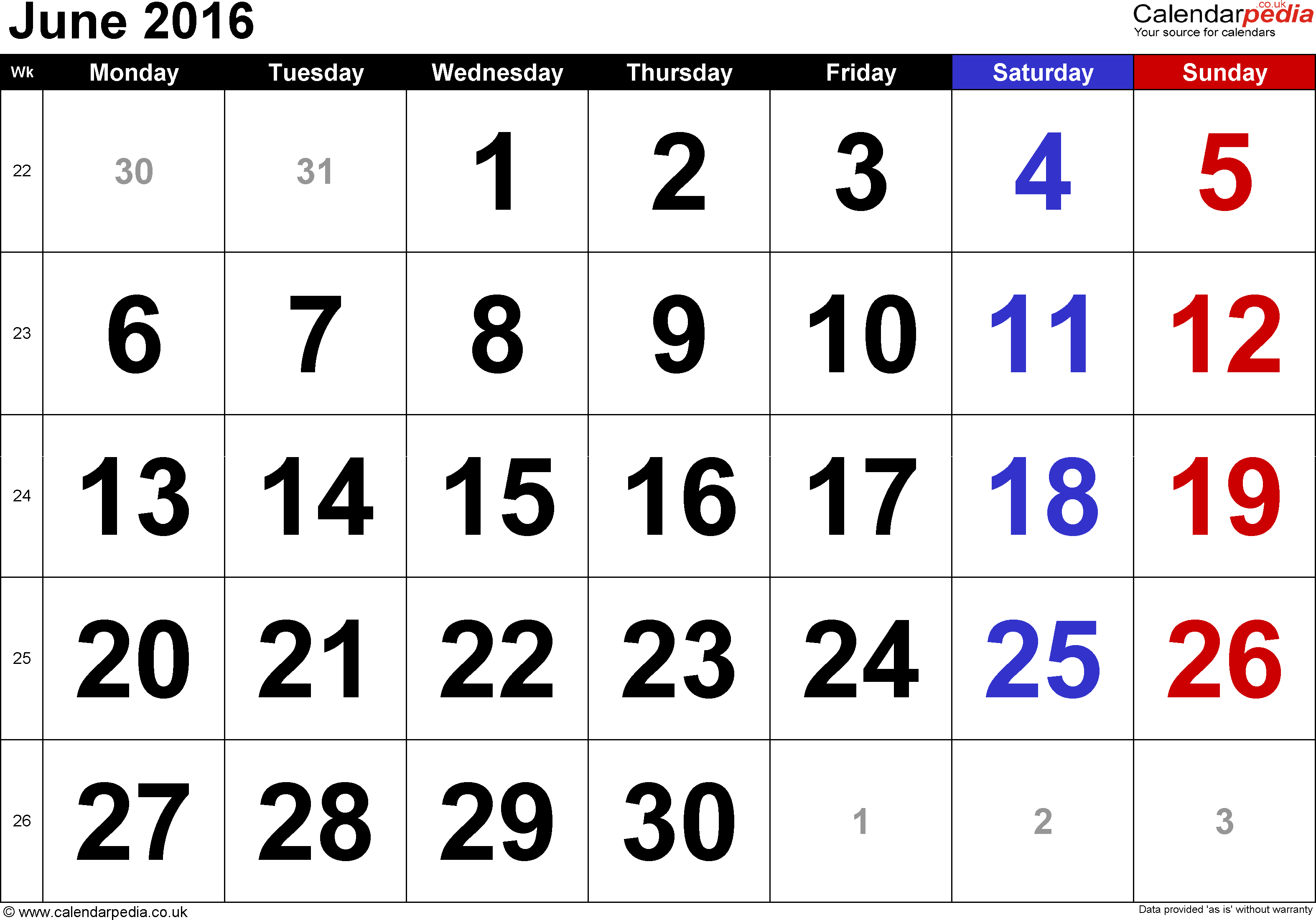 Calendar Week June : Calendar june uk bank holidays excel pdf word templates