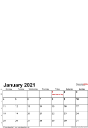 Download Template 1: Photo calendar 2021 for Microsoft Excel, 12 pages, portrait format, standard layout
