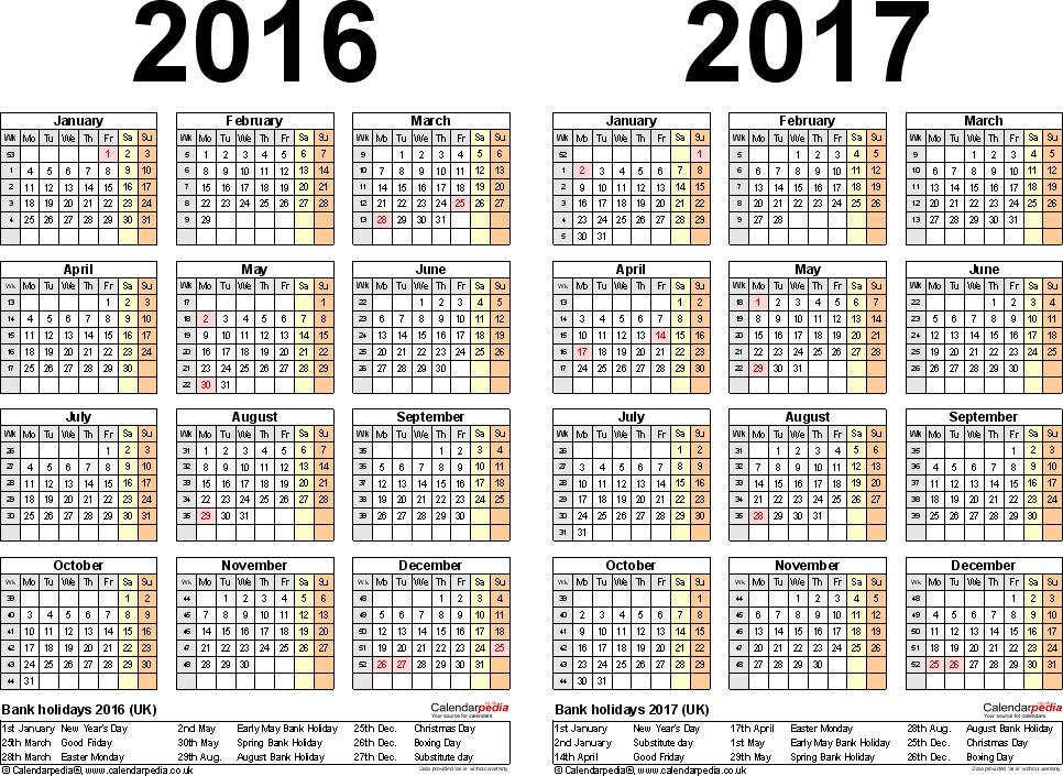 August 2016 Calendar Printable PDF - Bing